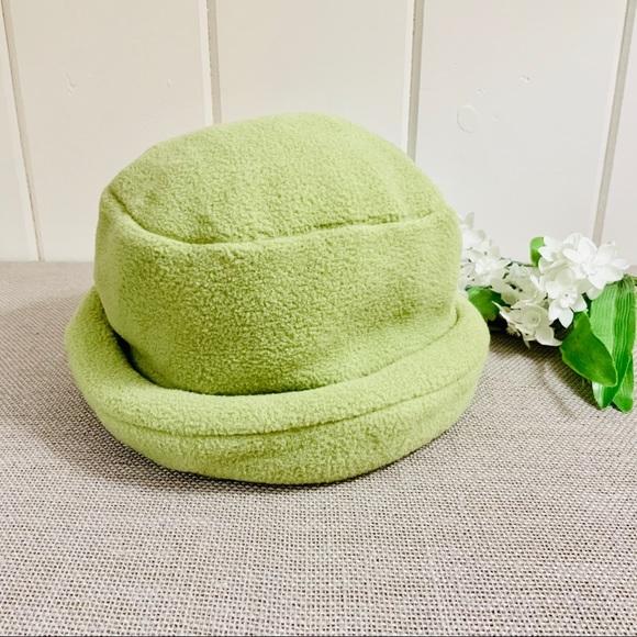 Lands  End Accessories - LANDS  END Light Green Aircore Fleece Bucket Hat 4a291d53b70